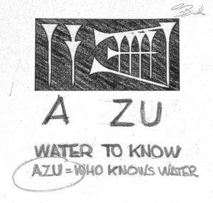AZU, značenje imena tvrtke dolazi od izraza drevnih sumerana, liječnik, onaj koji poznaje vodu.