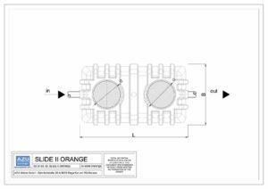 Separator ulja SLIDE II ORANGE, gravitacijsko uklanjanje mineralnih ulja i lakih tekućina. Tlocrt.