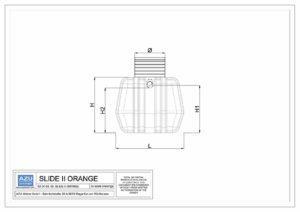 Separator ulja SLIDE II ORANGE, gravitacijsko uklanjanje mineralnih ulja i lakih tekućina. Nacrt.